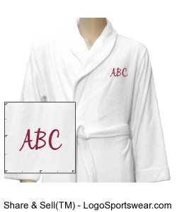 Luxury Plush Robe - Customize With Your Initials Design Zoom