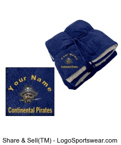 Continental Pirates Blanket - Luxurious Lambswool Microsherpa Throw Design Zoom