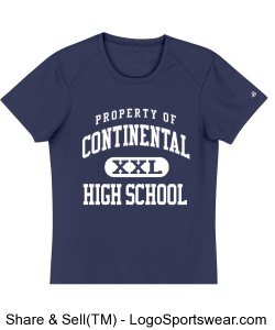 Continental Pirates Navy Ladies B-Dry Core Tee Design Zoom