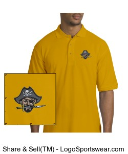 Continental Pirates Men's Silk Touch Sport Shirt - Yellow Design Zoom