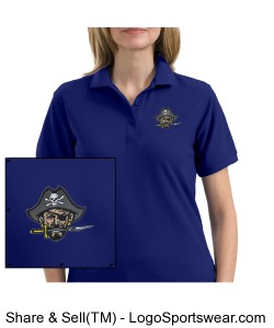 Continental Pirates Ladies Silk Touch Sport Shirt - Royal Blue Design Zoom
