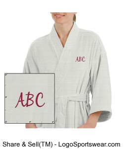 Luxury Spa Waffle Robe - Customize With Your Initials Design Zoom