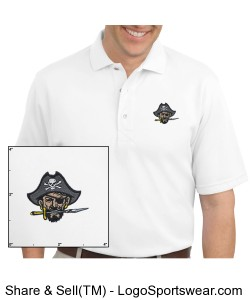 Continental Pirates Men's Rapid Dry Sport Shirt - White Design Zoom