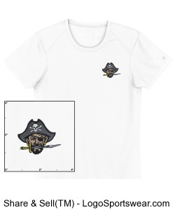 Continental Pirates Ladies B-Dry Core Tee - White Design Zoom