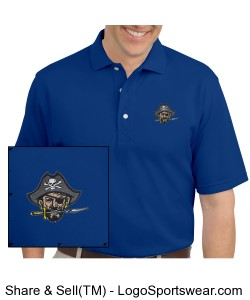 Continental Pirates Men's Rapid Dry Sport Shirt - Royal Blue Design Zoom