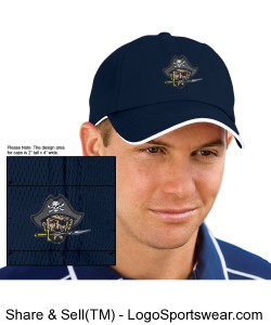 Continental Pirates Hat - Six Panel Low Profile Athletic Mesh Flexfit - Navy Design Zoom