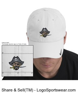 Continental Pirates NIKE GOLF Sphere Dry Hat - White Design Zoom